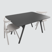 ren dining table and piano chair