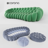 Bubble Curved 4-seat Sofa