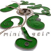 Mini golf. A set of 9 fields
