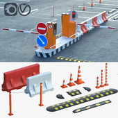 Оборудование для создания парковок, дорожные ограждения