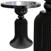 Kay Noir Marble Tassel Table