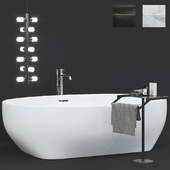 Antoniolupi ванна Solidea столик Gino