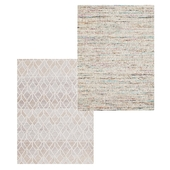 Temple and webster: Clyde Jacquard Wool & Viscose Modern Rug Sheila Hand Loomed Upcycled Sari Silk Rug