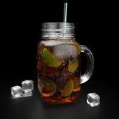 Mason jar mug with tea