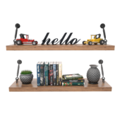 wall shelve and accessories set