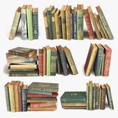 Состаренные книги на полку набор 3