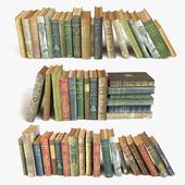 Состаренные книги на полку набор 5