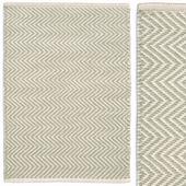 Dash & Albert Arlington Carpet Ocean and Ivory Rug