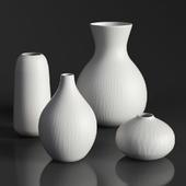 RH MATTE WHITE GLASS VASE COLLECTION Set-01