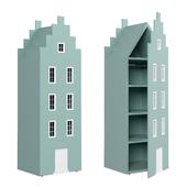 Children's wardrobe-house-1 series Amsterdam from the factory of Mandarin