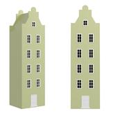 Children's wardrobe-house-XL-7 series Amsterdam from the factory of Mandarin
