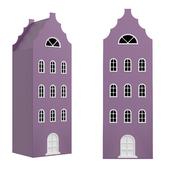 Children's wardrobe-house-XL-9 series Amsterdam from the factory of Mandarin
