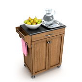 Kitchen Trolley with Pears and Water Jug