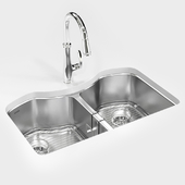 "KOHLER ""Octave"" under-mount kitchen sink"