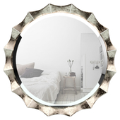 Round Silver Wall Mirror BAYI4421