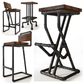 Bar stools from pipes. Uloft.