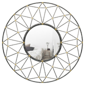 Bal Harbor Round Geometric Frame Accent Mirror BYST5344