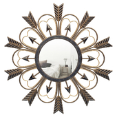 Decorative Sunburst Arrow Accent Mirror GRKS3682