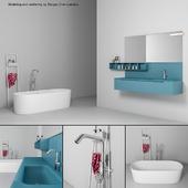 Bathroom furniture set Gold 5