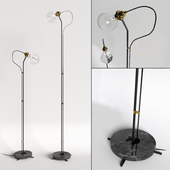 Five Floor Lamp - Black Marble, gold, bronze, small and large by New Works