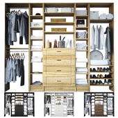 Open wardrobe with filling
