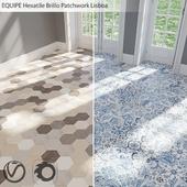 EQUIPE Hexatile / Brillo Patchwork Lisboa / Garden Gray / Sand / Black / Gray / Mink / Mud / Sand / White