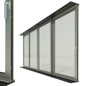 Panoramic sliding system Window Door