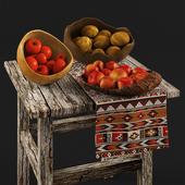 Fruits Tucker Robbins Bowl - Satinwood Bowl - Decorative Set