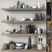 Scandinavian decorative set for the kitchen