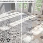 EQUIPE Hexatile / Harmony B & W / Lovely B & W / Insinuate Garden / Sand / Black / Gray / Mink / Mud / Sand / White