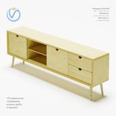 "TV console of designer furniture workshop ""Eight Planers"""