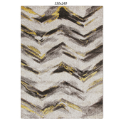 Temple and webster:Ella Chevron Modern Rug Grey Yellow
