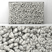 Gabion of pebbles