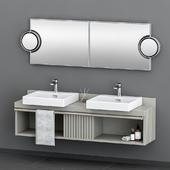 Cielo washbasin with decor