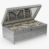 David Linley - Silver dove jewelry box