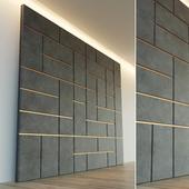 Decorative wall. Soft panel.
