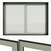 Panoramic double sliding door.
