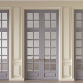 Wall moulding with doors