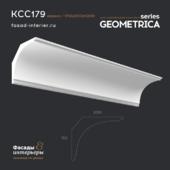 """Гипсовый карниз - KCC179. Габарит - 200x170. Эксклюзивная серия декора """"Geometrica""""."""
