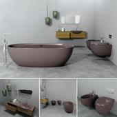Bathrom furniture set gold