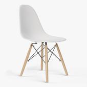 Eames Molded Plastic Side Chair Dowel Base By Herman Miller