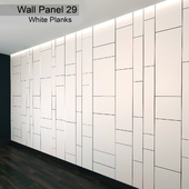 Wall Panel 29. White Planks