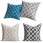 Hatched throw pillow
