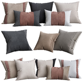 Suede & Linen Pintuck Pillow Cover By Kelly Hoppen