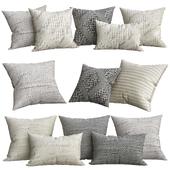 Textured Merino Wool Stripe Pillow Cover - Square