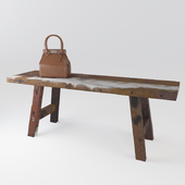 Boat Trip Bench with Hermes Bag