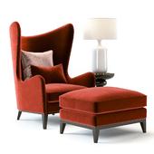 Monroe Armchair Red