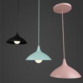 Modern Matte White Round Pendant Light