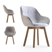 Chair with Armrest Lady Gray