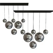 Huahan Extension Mirror Glass Ball Pendant Lamp